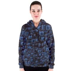 Metalart 23 Blue Women s Zipper Hoodies