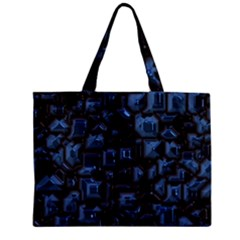 Metalart 23 Blue Zipper Tiny Tote Bags
