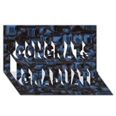 Metalart 23 Blue Congrats Graduate 3D Greeting Card (8x4)