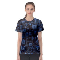 Metalart 23 Blue Women s Sport Mesh Tees