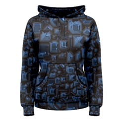 Metalart 23 Blue Women s Pullover Hoodies