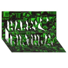 Metalart 23 Green Happy Birthday 3D Greeting Card (8x4)