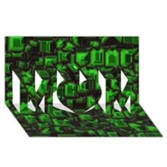 Metalart 23 Green MOM 3D Greeting Card (8x4)