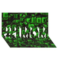 Metalart 23 Green #1 Mom 3d Greeting Cards (8x4)
