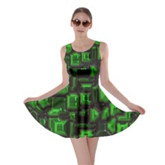 Metalart 23 Green Skater Dresses
