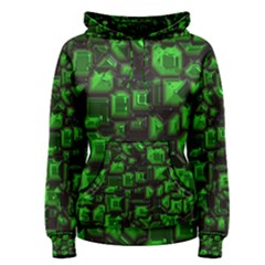 Metalart 23 Green Women s Pullover Hoodies