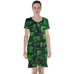 Metalart 23 Green Short Sleeve Nightdresses