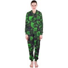 Metalart 23 Green Hooded Jumpsuit (Ladies)