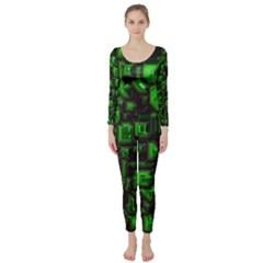 Metalart 23 Green Long Sleeve Catsuit
