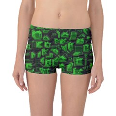 Metalart 23 Green Boyleg Bikini Bottoms