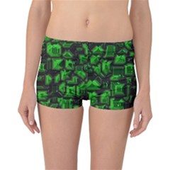 Metalart 23 Green Reversible Boyleg Bikini Bottoms