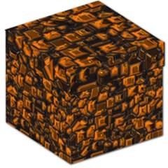 Metalart 23 Orange Storage Stool 12