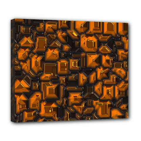 Metalart 23 Orange Deluxe Canvas 24  x 20