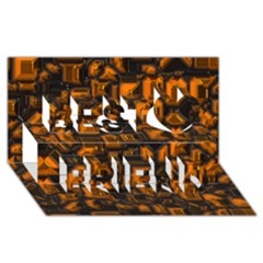 Metalart 23 Orange Best Friends 3D Greeting Card (8x4)