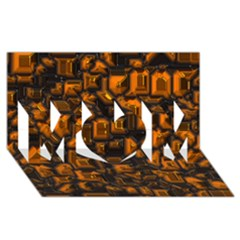Metalart 23 Orange Mom 3d Greeting Card (8x4)