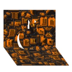 Metalart 23 Orange Apple 3D Greeting Card (7x5)