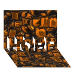 Metalart 23 Orange Hope 3d Greeting Card (7x5)