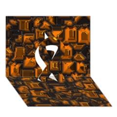 Metalart 23 Orange Ribbon 3D Greeting Card (7x5)