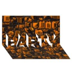 Metalart 23 Orange PARTY 3D Greeting Card (8x4)