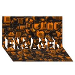 Metalart 23 Orange ENGAGED 3D Greeting Card (8x4)
