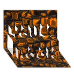 Metalart 23 Orange You Rock 3d Greeting Card (7x5)