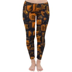 Metalart 23 Orange Winter Leggings