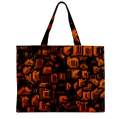 Metalart 23 Orange Zipper Tiny Tote Bags