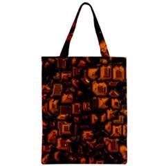 Metalart 23 Orange Zipper Classic Tote Bags