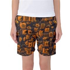 Metalart 23 Orange Women s Basketball Shorts