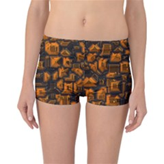 Metalart 23 Orange Reversible Boyleg Bikini Bottoms