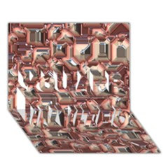 Metalart 23 Peach YOU ARE INVITED 3D Greeting Card (7x5)
