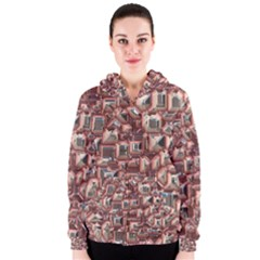 Metalart 23 Peach Women s Zipper Hoodies