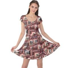Metalart 23 Peach Cap Sleeve Dresses