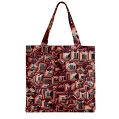 Metalart 23 Peach Zipper Grocery Tote Bags