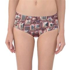 Metalart 23 Peach Mid Waist Bikini Bottoms