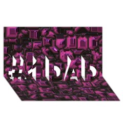 Metalart 23 Pink #1 Dad 3d Greeting Card (8x4)