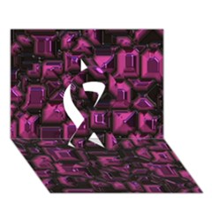 Metalart 23 Pink Ribbon 3D Greeting Card (7x5)