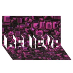 Metalart 23 Pink Believe 3d Greeting Card (8x4)