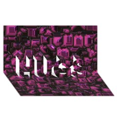 Metalart 23 Pink Hugs 3d Greeting Card (8x4)