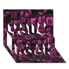 Metalart 23 Pink You Rock 3D Greeting Card (7x5)
