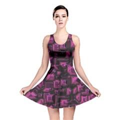 Metalart 23 Pink Reversible Skater Dresses