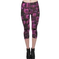 Metalart 23 Pink Capri Leggings