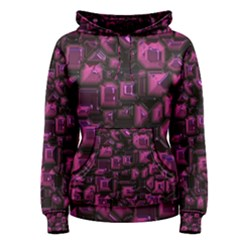 Metalart 23 Pink Women s Pullover Hoodies