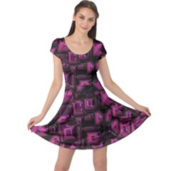 Metalart 23 Pink Cap Sleeve Dresses