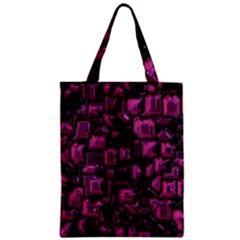 Metalart 23 Pink Zipper Classic Tote Bags