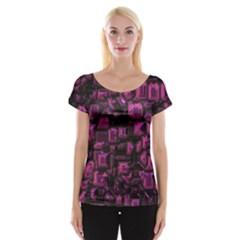 Metalart 23 Pink Women s Cap Sleeve Top