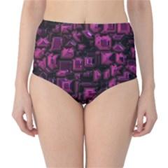 Metalart 23 Pink High-Waist Bikini Bottoms