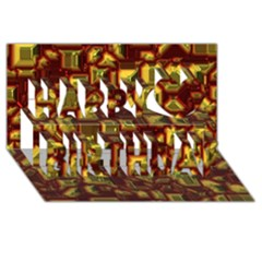 Metalart 23 Red Yellow Happy Birthday 3D Greeting Card (8x4)