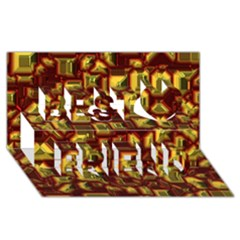 Metalart 23 Red Yellow Best Friends 3d Greeting Card (8x4)
