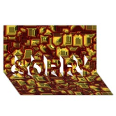 Metalart 23 Red Yellow SORRY 3D Greeting Card (8x4)